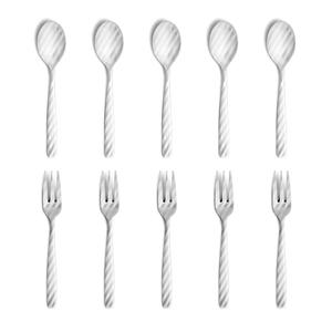 Perrocaliente DRESS - Stripe Tea Spoon & Tea Fork 10pcs Set [カトラリー]