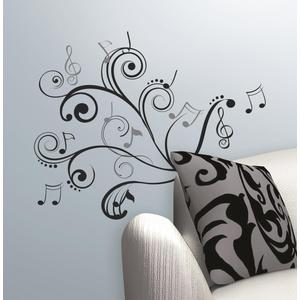 RoomMates Music Note Scroll [ウォールステッカー]